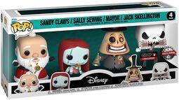 Sandy Claws/Sally Sewing/Mayor/Jack Skellington - 4-Pack Figures