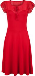 Victoria Red Flutter Sleeve