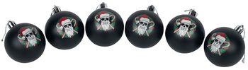 Santa Skull 6 bolas de navidad