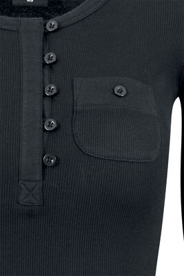 Camiseta Larga Acanalada con Bolsillo