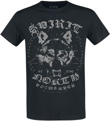 Black T-shirt with Print and Crew Neckline
