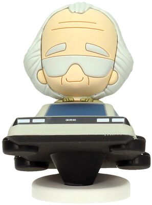 Doc Brown in Delorean (Pokis Figure)