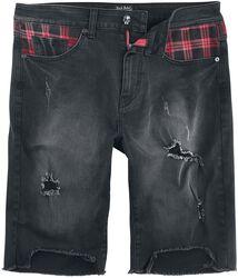 Pantalón corto con efecto desgastado