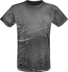 Camiseta Negra spray lavado