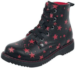 Botas negras para anudar con Estrellas