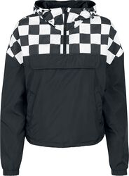 Ladies Short Oversize Check Pull Over