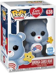 Figura Vinilo America Cares Bear (Glitter) (Funko Shop Europe) 638
