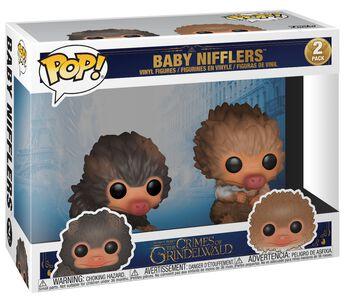 Figura Vinilo - Los Crímenes de Grindelwald Baby Nifflers 2-Pack