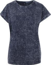 Camiseta mujer look ácido con manga apuntada