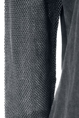 Manga larga gris con mangas transparentes
