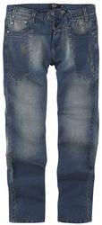 Jeans mit starker Waschung und Used Effekten