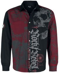 Camiseta negra/roja con estampado