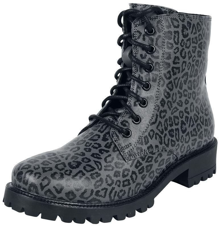 Botas grises con estampado leopardo
