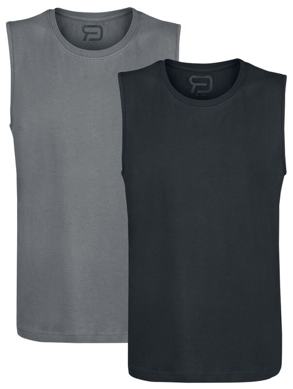 Grey and Black Tank Tops Double-Pack