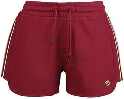RED X CHIEMSEE - Pantalón corto rojo con logo estampado