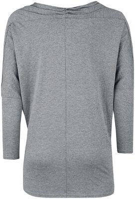 Camisa de manga larga con cuello en cascada
