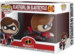 2 - Figura Vinilo Elastigirl on Elasticycle 45