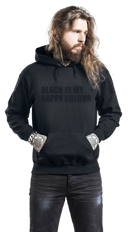black is my happy colour sudadera con capucha emp. Black Bedroom Furniture Sets. Home Design Ideas