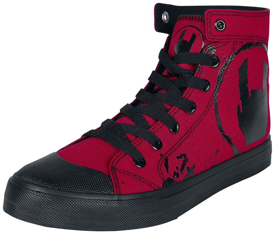 Red Sneakers with Rockhand