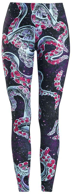 Coloridos leggings con diseño de Galaxias y Tentáculos