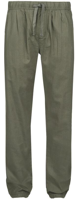 Pantalones Khaki de tela con cintura elástica y cordel