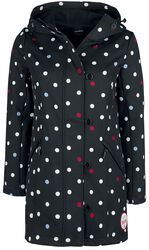 White Dots Softshell Girl black