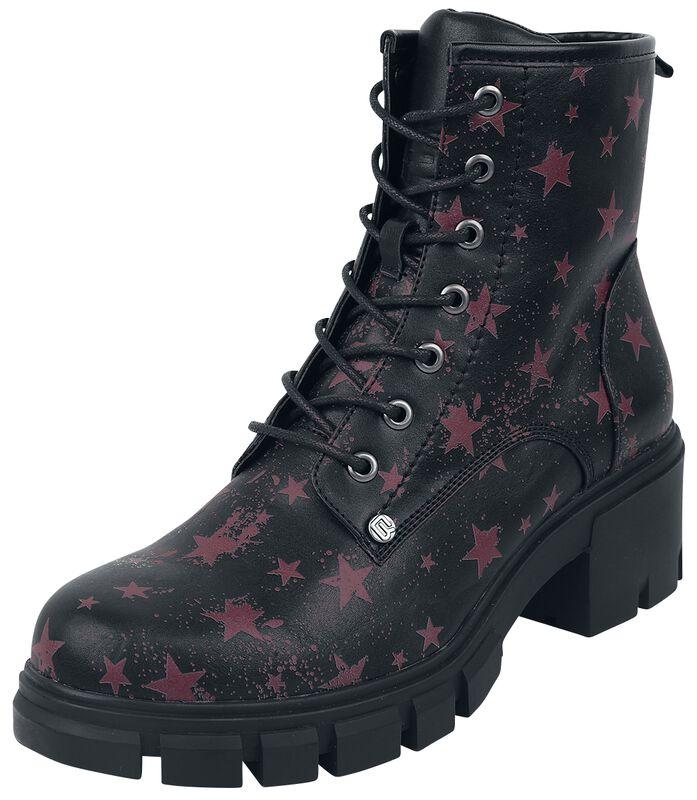 Botas negras con diseño Star