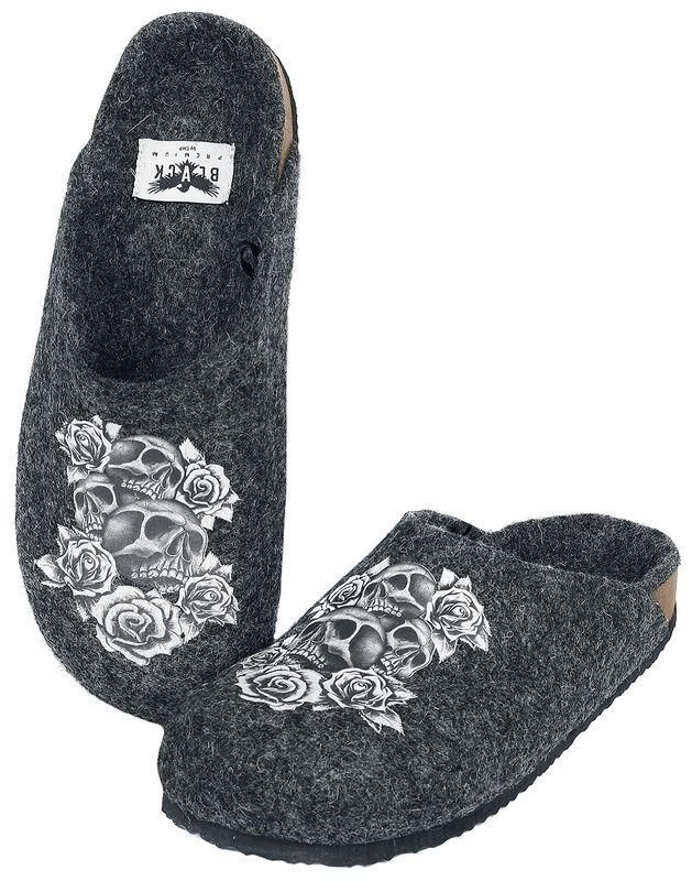 Zapatillas grises Skull y Rose