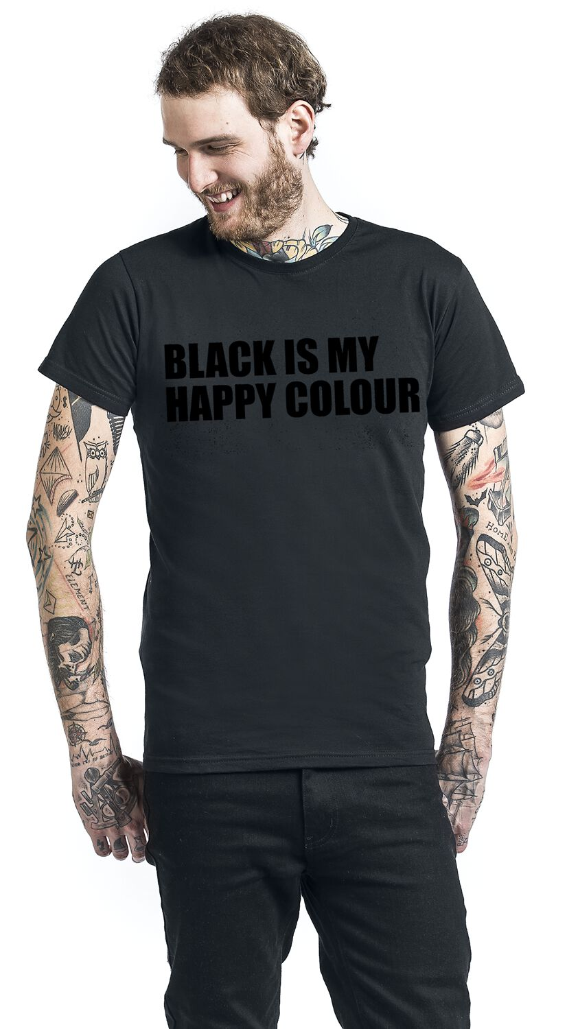 black is my happy colour camiseta emp. Black Bedroom Furniture Sets. Home Design Ideas