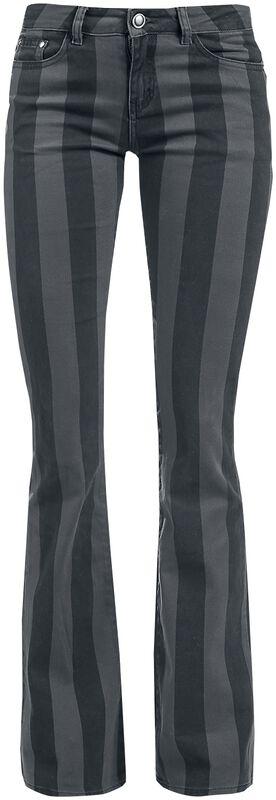 Grace - Pantalones a rayas negro/gris