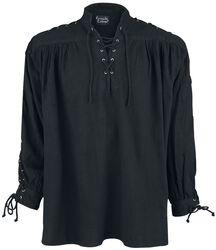 Camisa Medieval con Cordón y Ojales