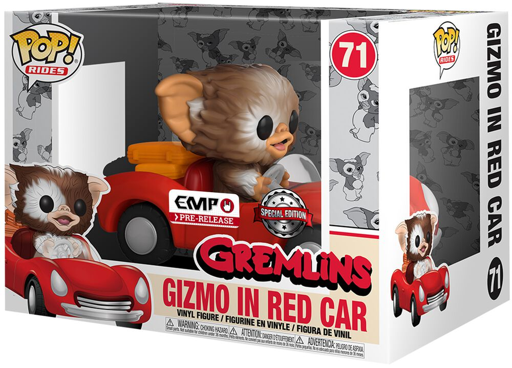 Figura Vinilo Gizmo in Red Car POP Rides 71