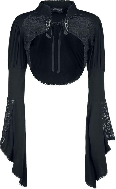 Bolero de Gothicana con encaje y manga ancha