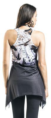 Crow Night Lace Panel Vest