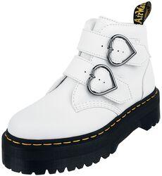 Devon Heart White Aunt Sally 2 Strap Boot