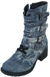 Botas look denim de Rock Rebel con tachuelas