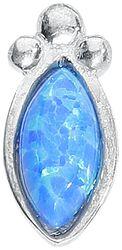 Silver Blue Bindi Opal