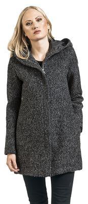 Melange Abrigo con capucha