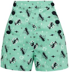 Flossy Mint Kitty Shorts