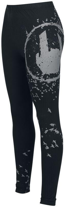 Black Leggings with Rockhand