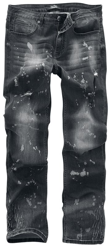 Pete - Vaqueros grises con lavado, zonas de color y ligero aspecto usado