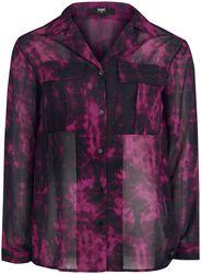 Blusa Black Premium Semi-Transparente con patrón