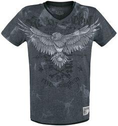 Camiseta con estampado y cuello en V