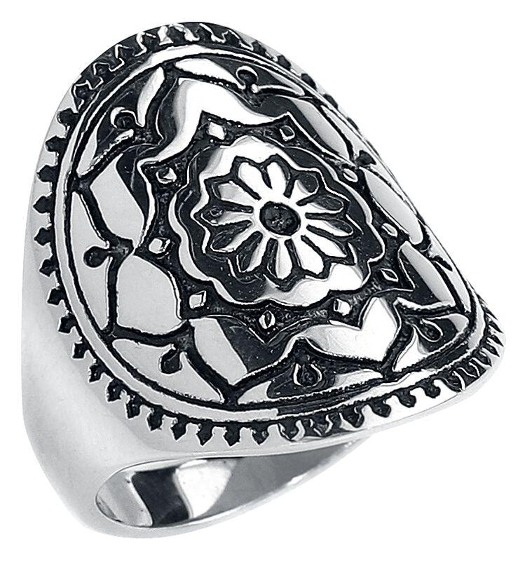Silver Mandala Flower