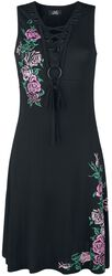 Kleid mit floralem Print und Schnürung