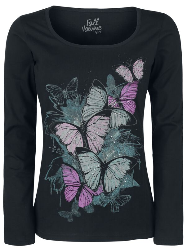 Camisa de manga larga con estampado de mariposas