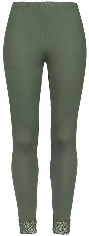 Leggings verdes con encaje de Black Premium