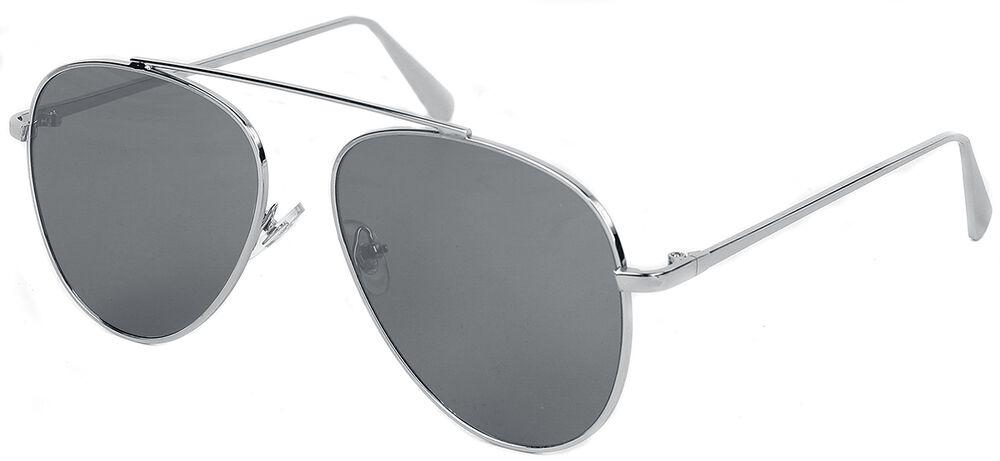 Shiny Silver Mirror Aviators