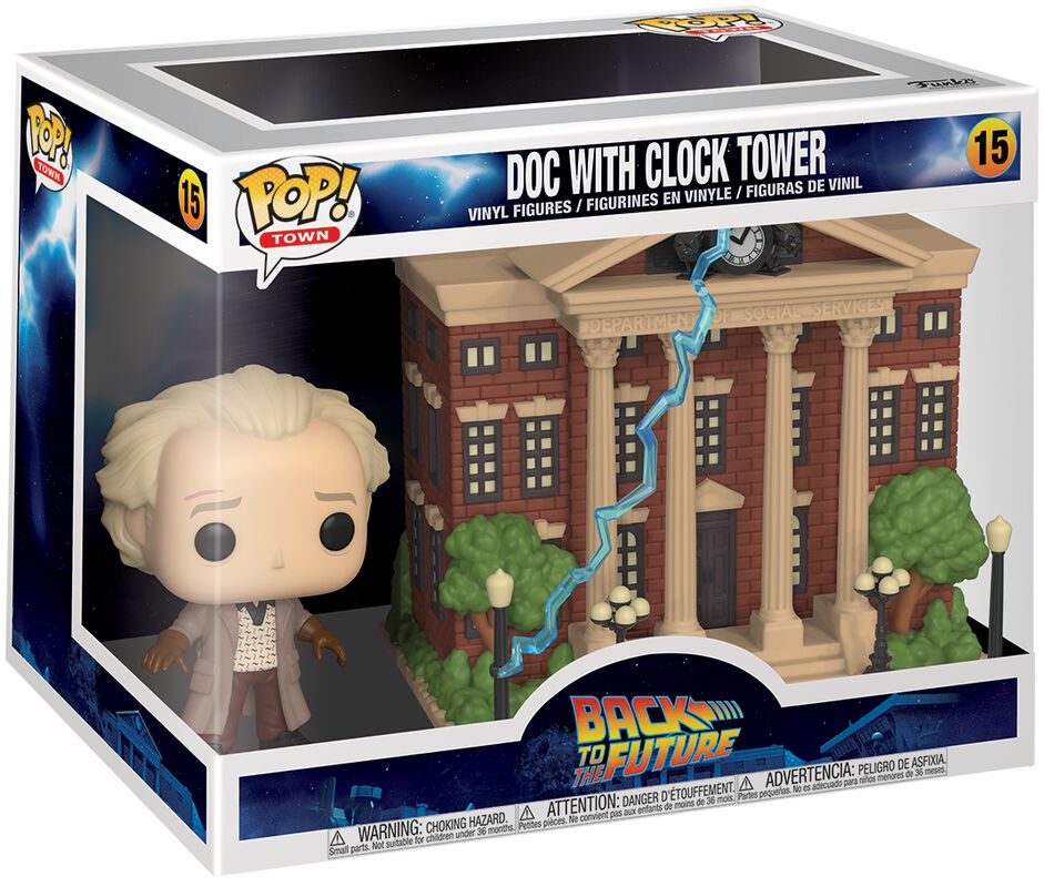 Figura vinilo Doc with Clock Tower (Pop! Town) 15