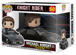 Figura Vinilo Michael Knight with KITT Pop Ride 50